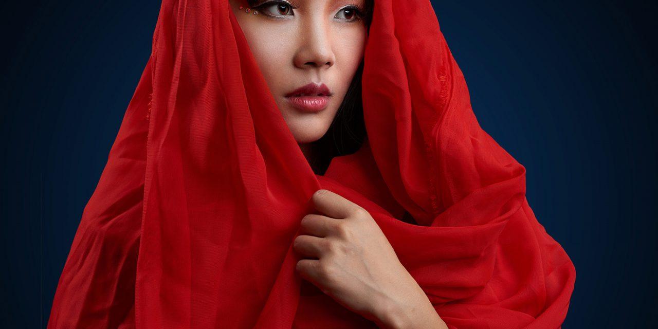 人像摄影 惊艳红