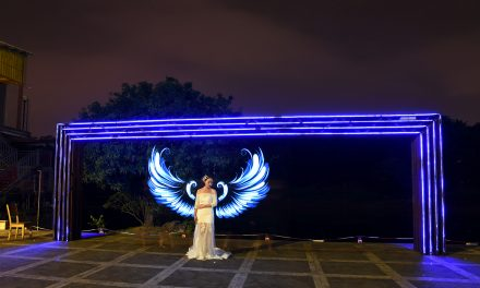 光绘人像 光绘翅膀