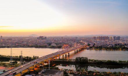 航拍东江大桥 东江大桥视频素材